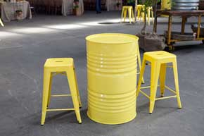 Oil Drums Tolix Chairs