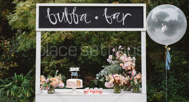 Features: Wood Panelled Taco Stand with Blackboard
