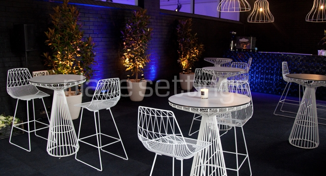 Features: Arrowe Bar Stools & Tait Wire Bar Tables