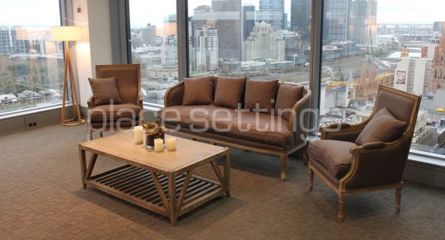 Features: Bordeaux Armchairs, 3-Seat Sofa & Coffee Table