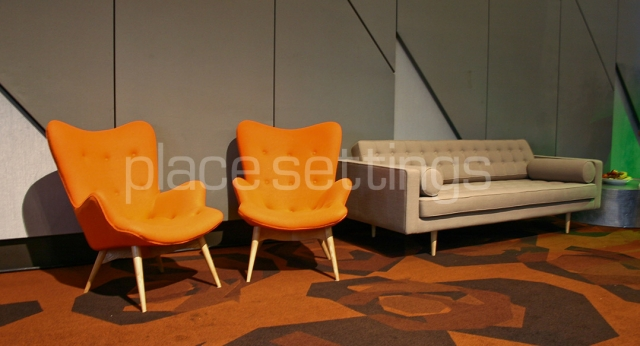 Features: Grant Featherstone Chairs & Bassett 3-Seat Sofa