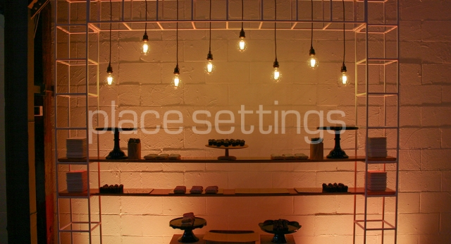 Features: Wire Bar Pergola with Lighting