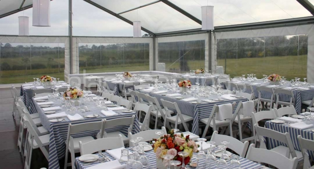 Features: White Folding Padded Chairs