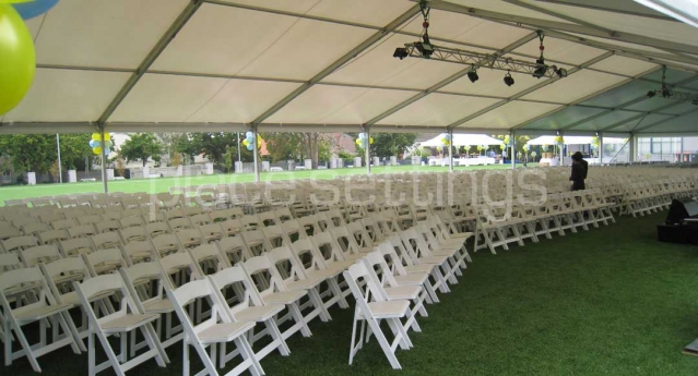 Features: White Padded Folding Chairs