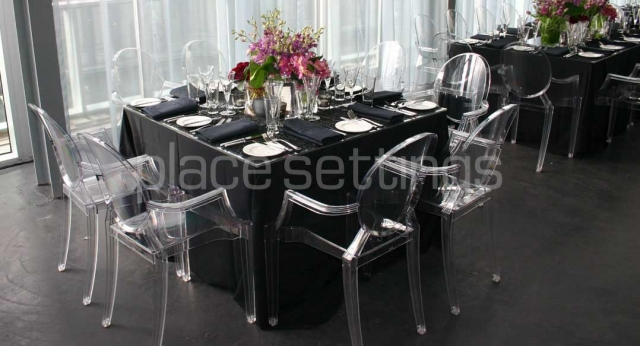 Features: Clear Louis Ghost Chairs