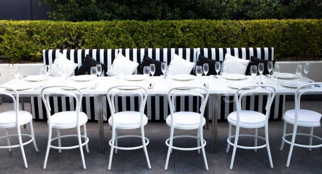 Features: White Bentwood Chairs