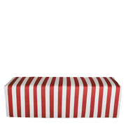 Stripey Covered Ottoman