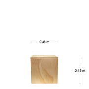Natural Wooden Cube