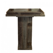 Rustic Plinth with Butlers Tray
