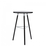 Scandi Blackwash Bar Table