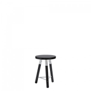 Scandi Blackwash Low Stool