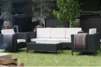 Outdoor Black And White Lounge Seating